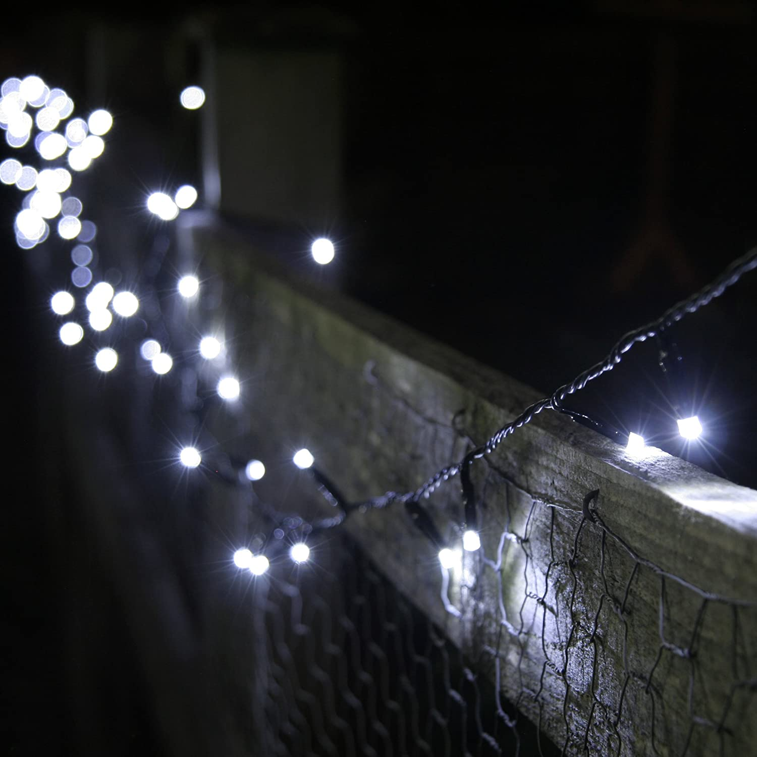 Solar Line Lights Part - 32: 100 White LED Solar Powered Garden Fairy Lights By Lights4fun:  Amazon.co.uk: Garden U0026 Outdoors