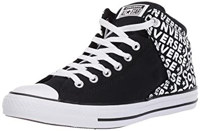 a53567d80b54 Converse Men s Unisex Chuck Taylor All Star Street Wordmark High Top  Sneaker Black White