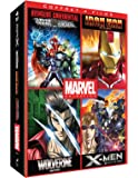 Marvel Animés - Coffret : Iron Man + Wolverine + X-Men + Avengers Confidential