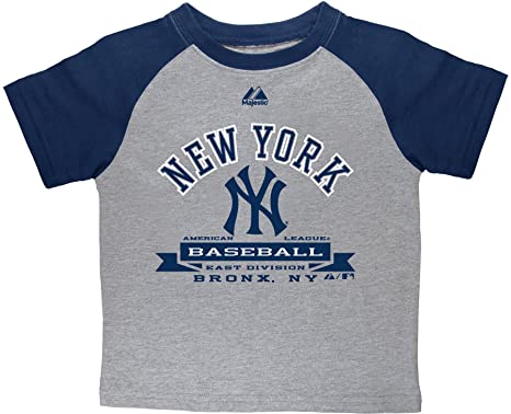 3bbf28315 MLB New York Yankees Juvi Boys Milestone Raglan Tee by Majestic (Steel  Heather/ATH NB, Medium): Amazon.in: Sports, Fitness & Outdoors