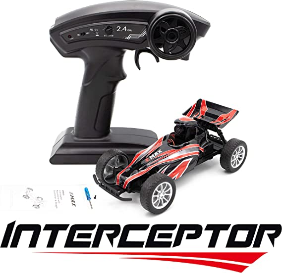 EMAX Interceptor Bnr FPV Camera Indoor Race RC Car with Radio Controller Car