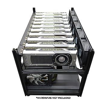 Hydra IV 10 GPU Frame Rack Mining Rig Case, Dual PSU Ready