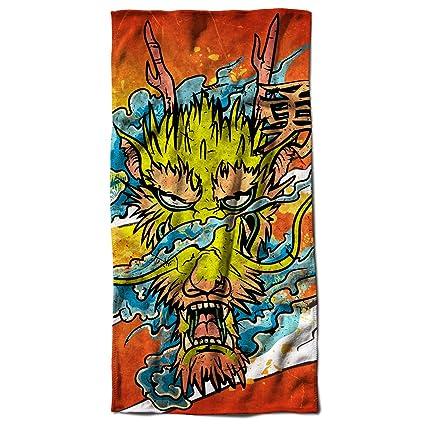 Drago asiatico Mito Fantasia il Male Bestia toalla de playa | Wellcoda, microfibra, multicolor