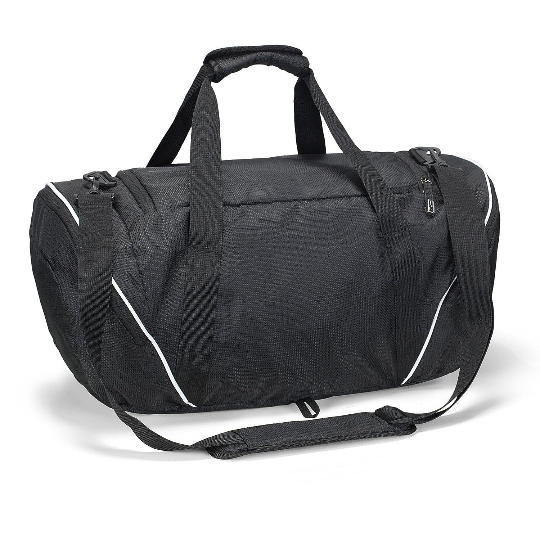 Runetz - BLACK Gym Bag Athletic Sport Shoulder Bag for Men   Women Duffel 20-inch  Large - Black  Amazon.in  Shoes   Handbags 2002791ea032b
