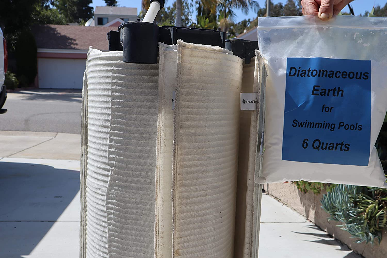 shram Diatomaceous Earth //for Swimming Pools//Pool Filter Powder Media Aid// 6 Quarts DE