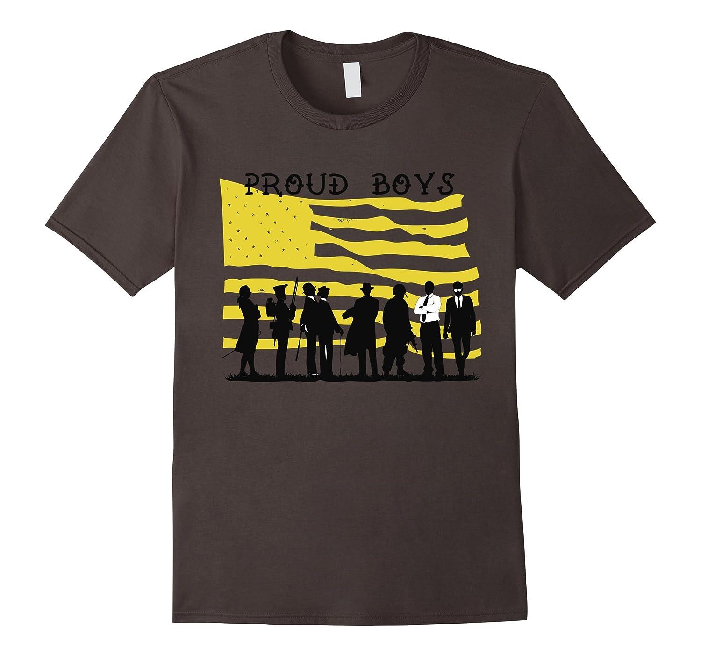 Proud Boys Patriotic American Flag T-Shirt-4LVS