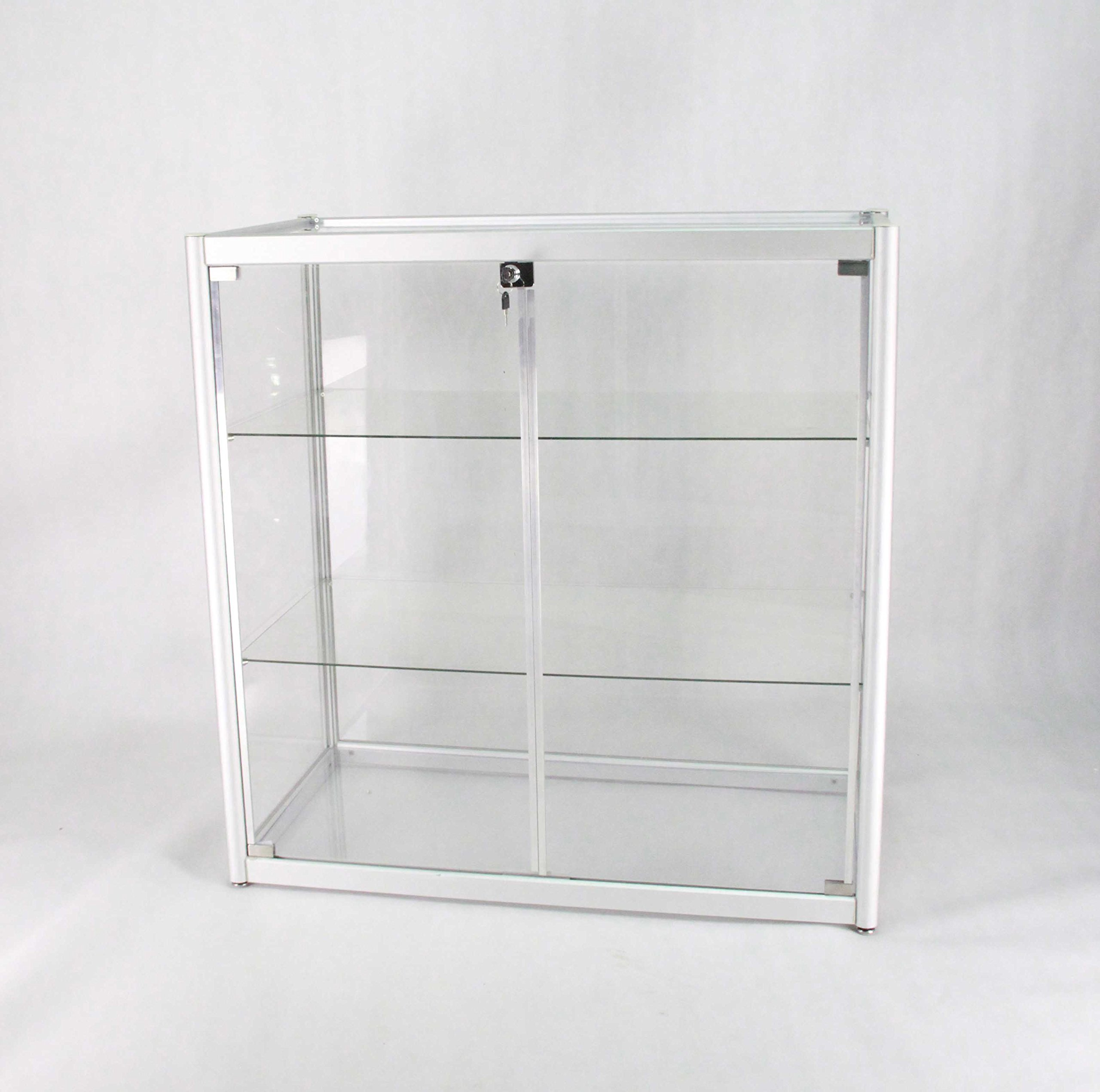 Aluminum Glass Display Showcase, Swing Door with Locks 102729