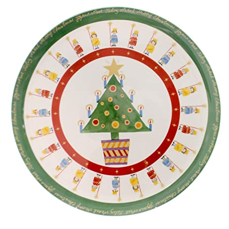 Amazon.com: Christopher Radko IT\'S CHRISTMAS PLATE Ceramic Christmas ...