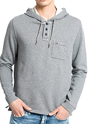 Tommy Hilfiger - Sweat-Shirt à Capuche - Homme Gris Gris Medium ... 6bce77283f56