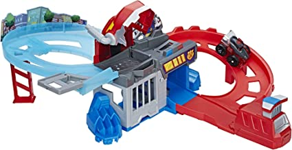 Playskool Heroes Transformateurs Rescue Bots Flip Racers Optimus Prime Course Piste