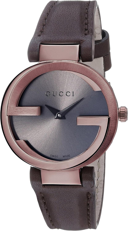Gucci YA133504 - Reloj de Cuarzo para Mujer, con Correa de Cuero, Color marrón
