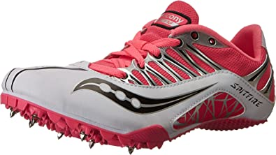 Saucony Spitfire - Zapatillas para mujer, Blanco (Blanco/Rosado), 42.5 EU: Amazon.es: Zapatos y complementos