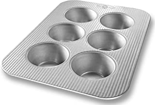 product image for USA Pan Bakeware Texas Muffin Pan, 6 Well, Nonstick & Quick Release Coating, Made in the USA from Aluminized Steel