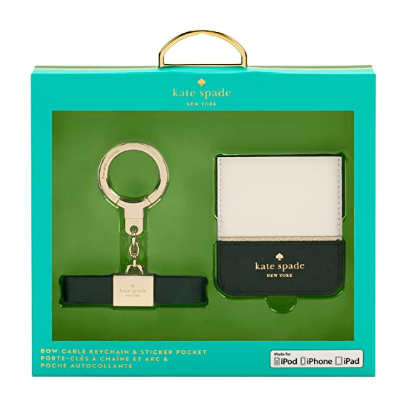 Amazon com: Kate Spade New York Bow Cable Keychain & Sticker