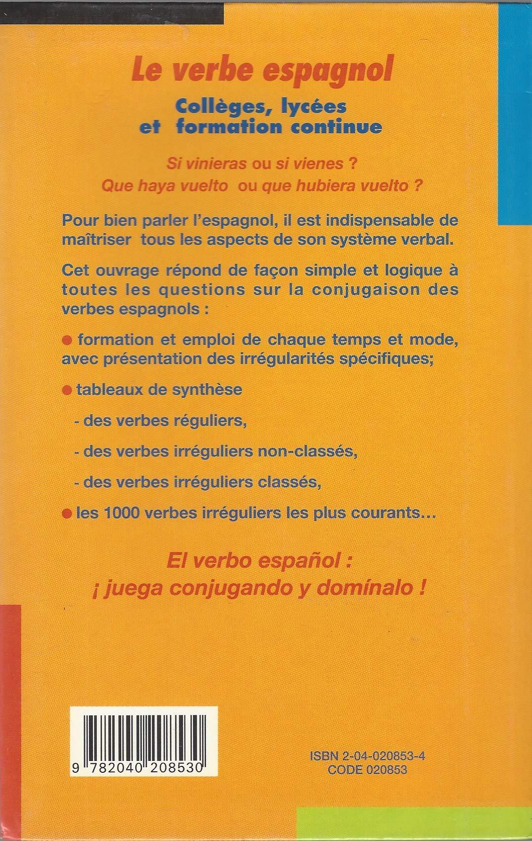 Forestier Verbe Espagnol Ancienne Edition 9782040208530 Amazon Com Books