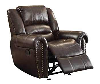Recliner Back Support Homelegance Glider Reclining Chair