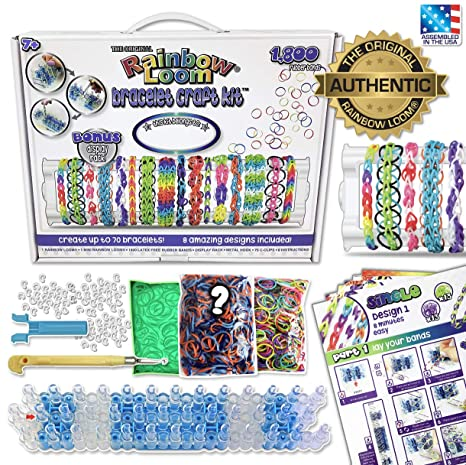 As State Ratings Loom Parents Worry >> Amazon Com Rainbow Loom Bracelet Craft Kit Toys Games