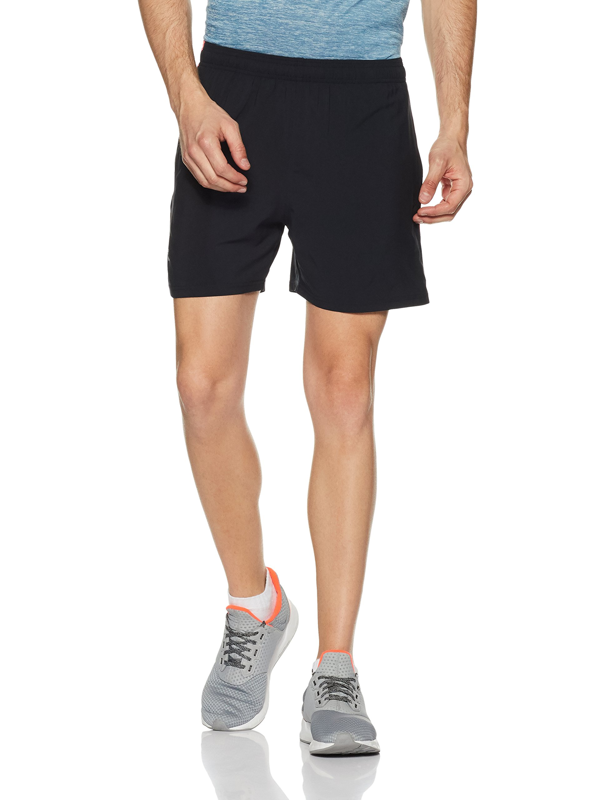 Under Armour Men's Launch 5'' Shorts,Black /Reflective, Small by Under Armour (Image #1)