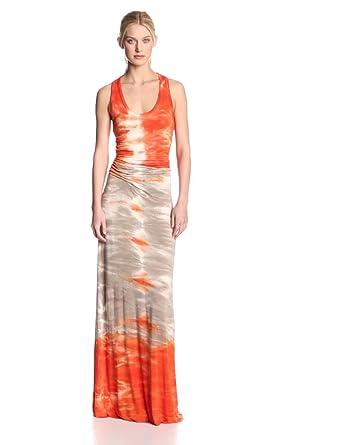 Young Fabulous & Broke Women's Hampton Tank Sumatra Wash Dress, Orange, Medium