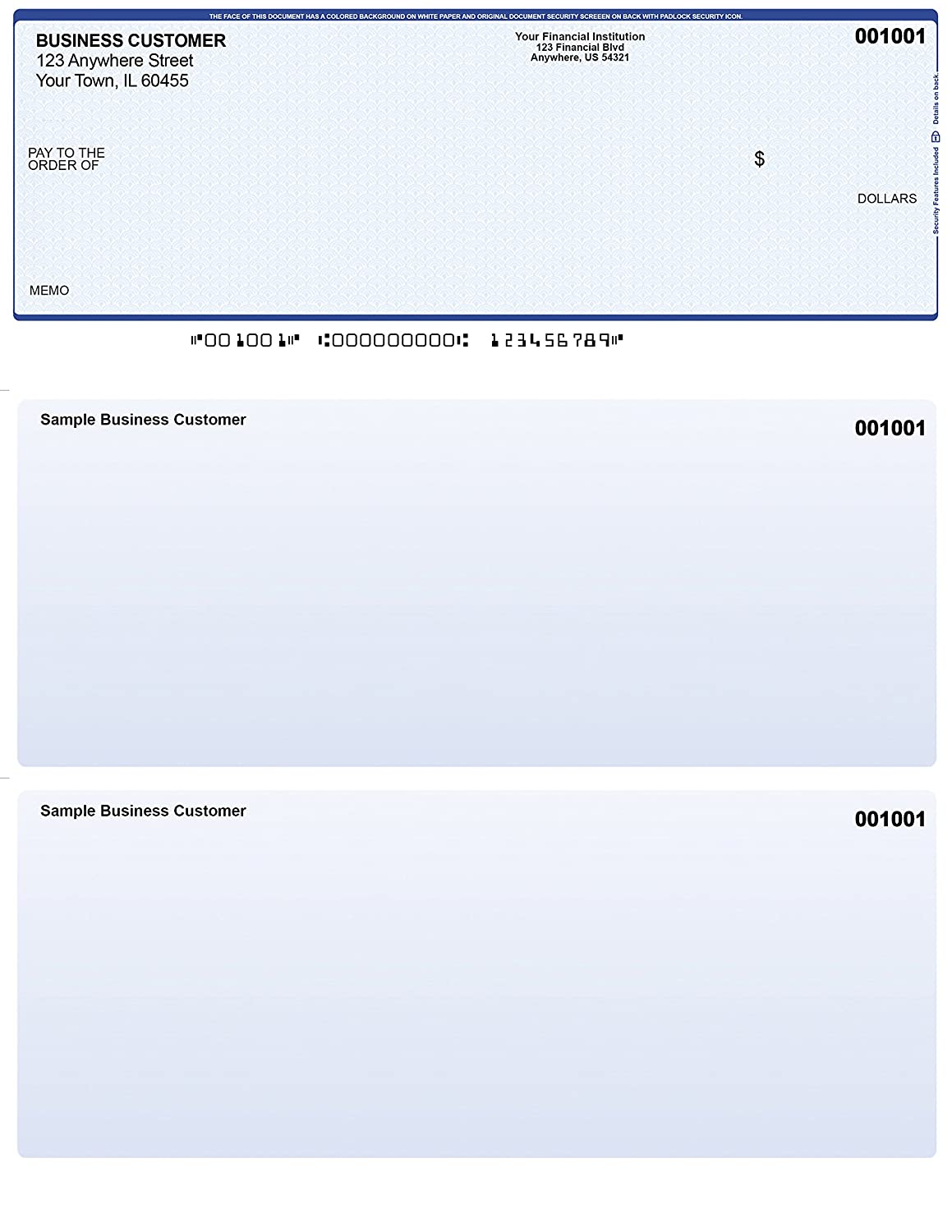photograph relating to Quickbooks Printable Checks called 250 Posted Laser Laptop or computer Voucher Assessments Blue Protection