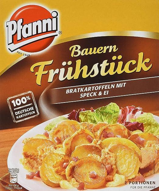 pfanni kartoffelfertiggericht bauern fruhstuck bratkartoffeln mit speck und ei 2 portionen amazon de amazon pantry