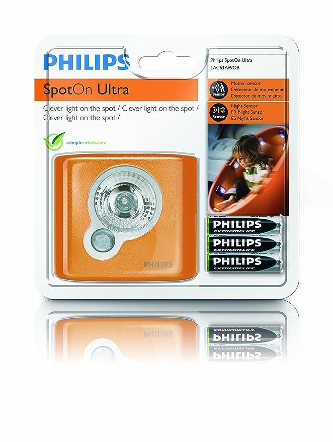 Philips 81413200 SpotOn LED - Luz LED, carcasa color naranja: Amazon.es: Iluminación