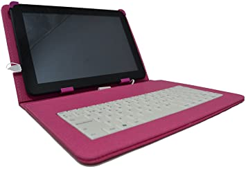 """Funda con teclado extraíble para tablet en español (incluye letra Ñ) Lazer Alcampo 10.1"""""""