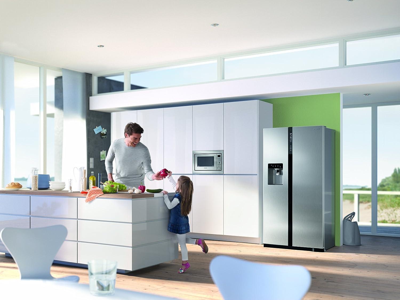 Einbauküche Mit Side By Side Kühlschrank : Panasonic nr b v xe side by side a kwh jahr l