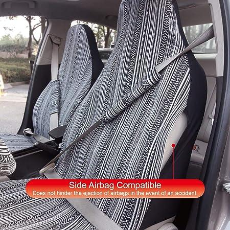 Copap 4pc Universal Streifen Bunte Baja Vordersitzbezug Baja Schalensitz Bezüge Satteldecke M Typ C Auto