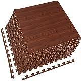 Amazon Com 96 Sq Ft Dark Wood Grain Eva Mats Foam