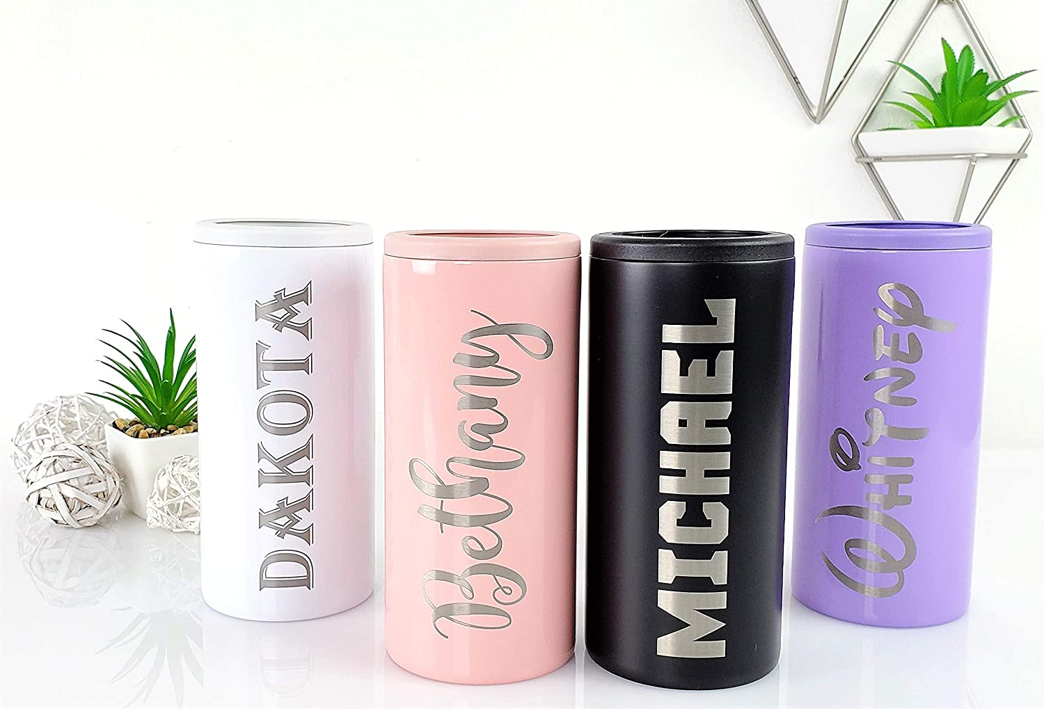 Pineapple Personalized Engraving Included Stainless Steel Double Wall Can Holder