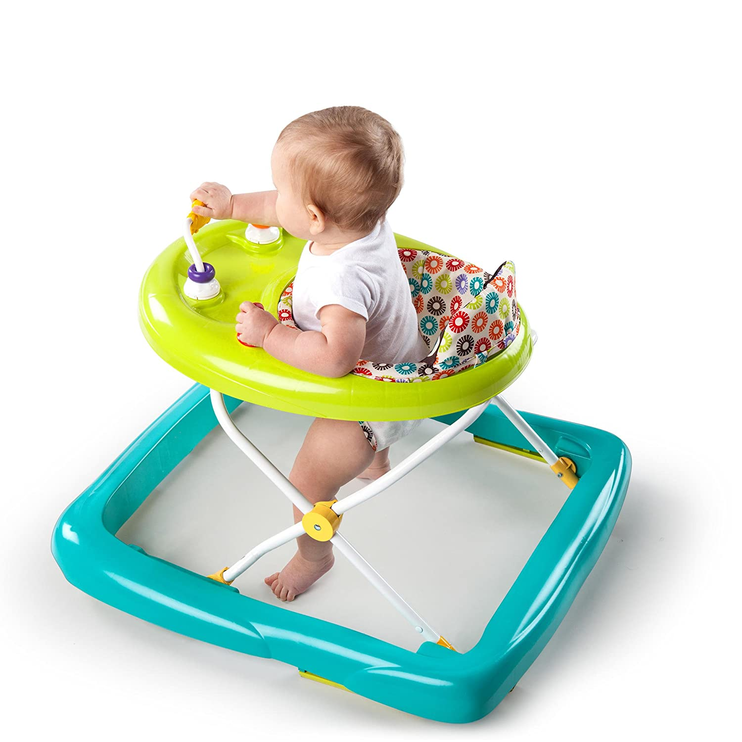 Amazon Bright Starts Pattern Pals Walker Green Baby