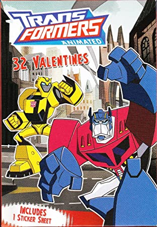 TransFormers Valentines Cards