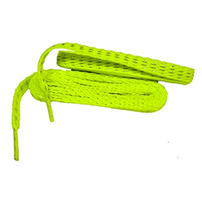 45 Inch 114 cm Fashionable Reflective 8mm Flat Woven Safety Athletic Shoelaces - 2 Pair Pack