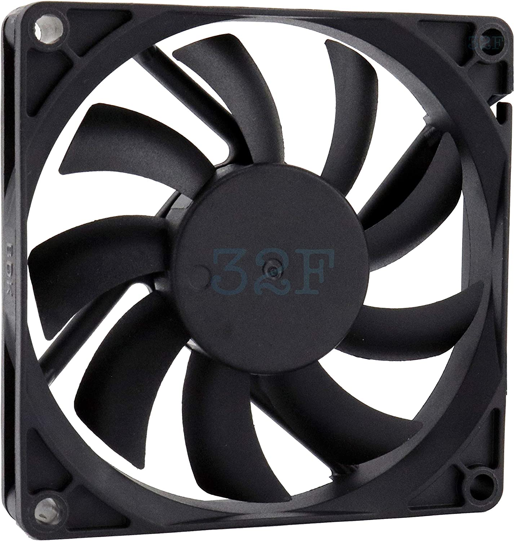 32F Ventilador 80 mm 80 x 80 x 15 2500 RPM 24 V 0,16 A DC Air Fan 8 cm 80 mm 3 hilos 3 pines con sensor taquimétrico Refrigeración 80 x 80 x 15