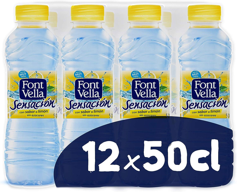 Font Vella Sensación, Agua Mineral Natural con sabor limón - Pack ...