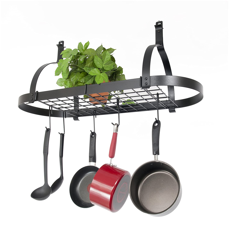 style of decor photo industrial kitchen home rack pan pot design attachment