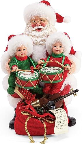 Department 56 Possible Dreams Santa Little Drummers Figurine, 9 Inch, Multicolor