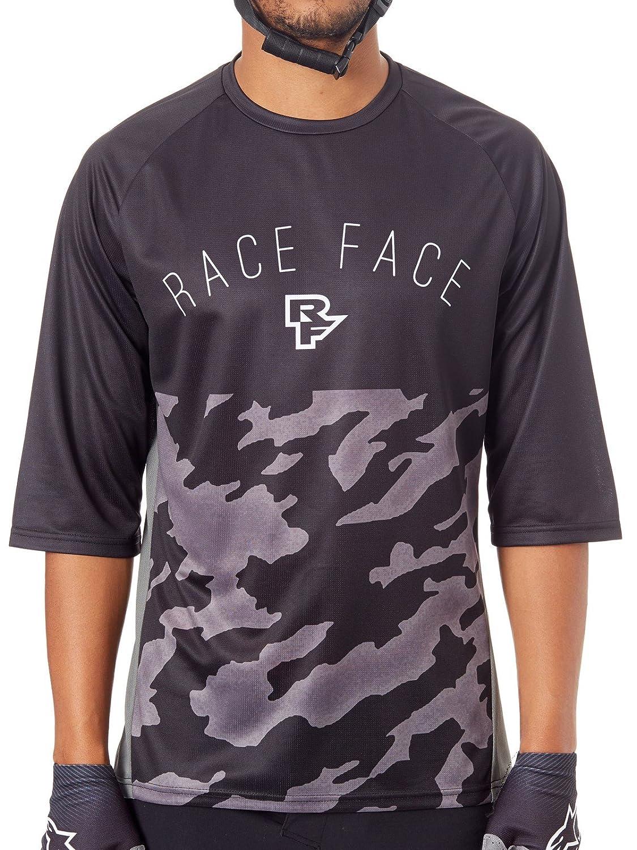 【はこぽす対応商品】 RaceFaceブラックAmbush MTB Large Sleeved Jersey B07CGK72HG ¾ Sleeved Large B07CGK72HG, 美嚢郡:d0d17fa2 --- arianechie.dominiotemporario.com