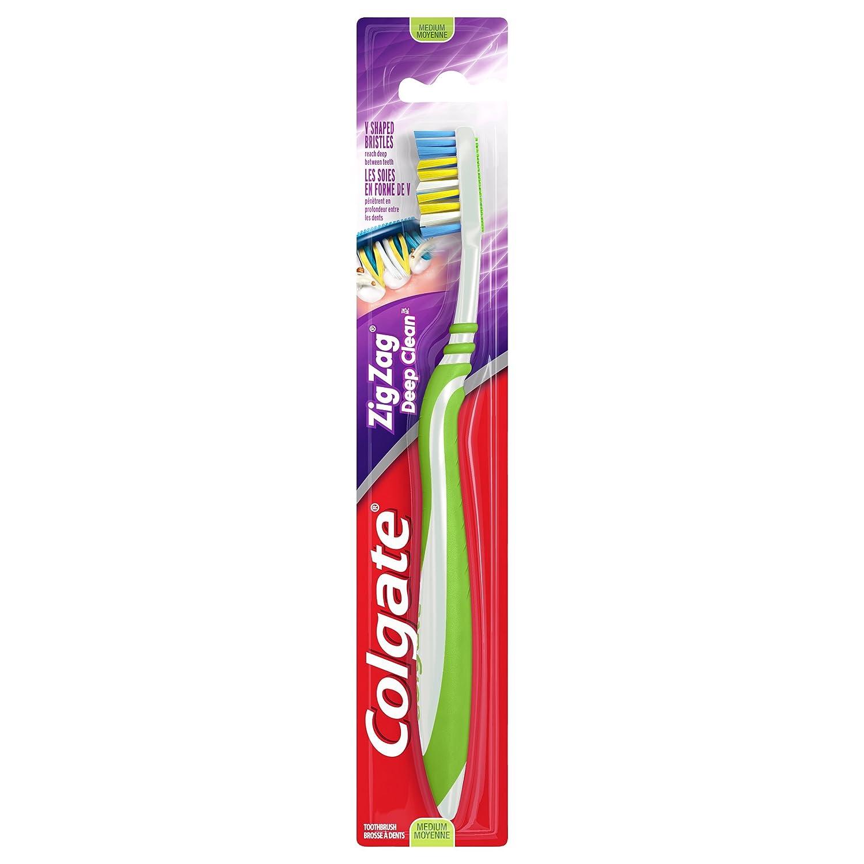 Colgate ZigZag Toothbrush, Medium, 1 Count CN01376A