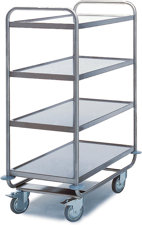 Acero inoxidable – Mesa carro 4 pisos (800 x 500 mm) 200 kg ...