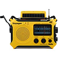 Kaito KA500 5-Way Powered Solar Power,Dynamo Crank, Wind Up Emergency AM/FM/SW/NOAA Weather Alert Radio with Flashlight…