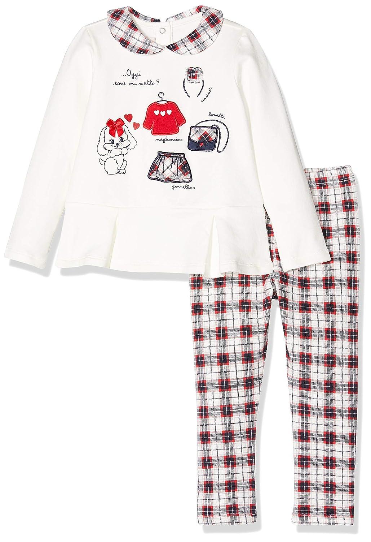 Chicco Completo T-Shirt Maniche Lunghe con Leggings Completino Bambina