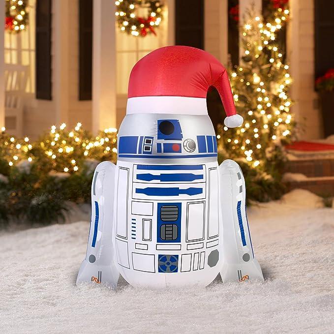 Star Wars Disney R2D2 - Gorro de Papá Noel (Hinchable, 4, 5 ...