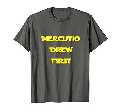 825fba41d Amazon.com: Mercutio Drew First Shakespeare T Shirt: Clothing