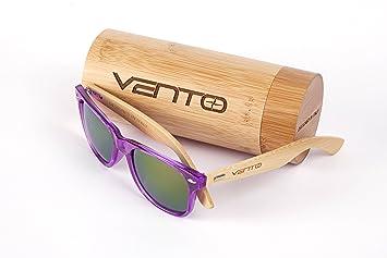 ynport crefreak echtem Bambus Holz Sonnenbrille, Herren Frauen Holz-Gläser, leicht Schwebe Sun Glasses, Herren, blau