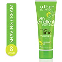 Alba Botanica Very Emollient, Coconut Lime Shave Cream, 8 Ounce