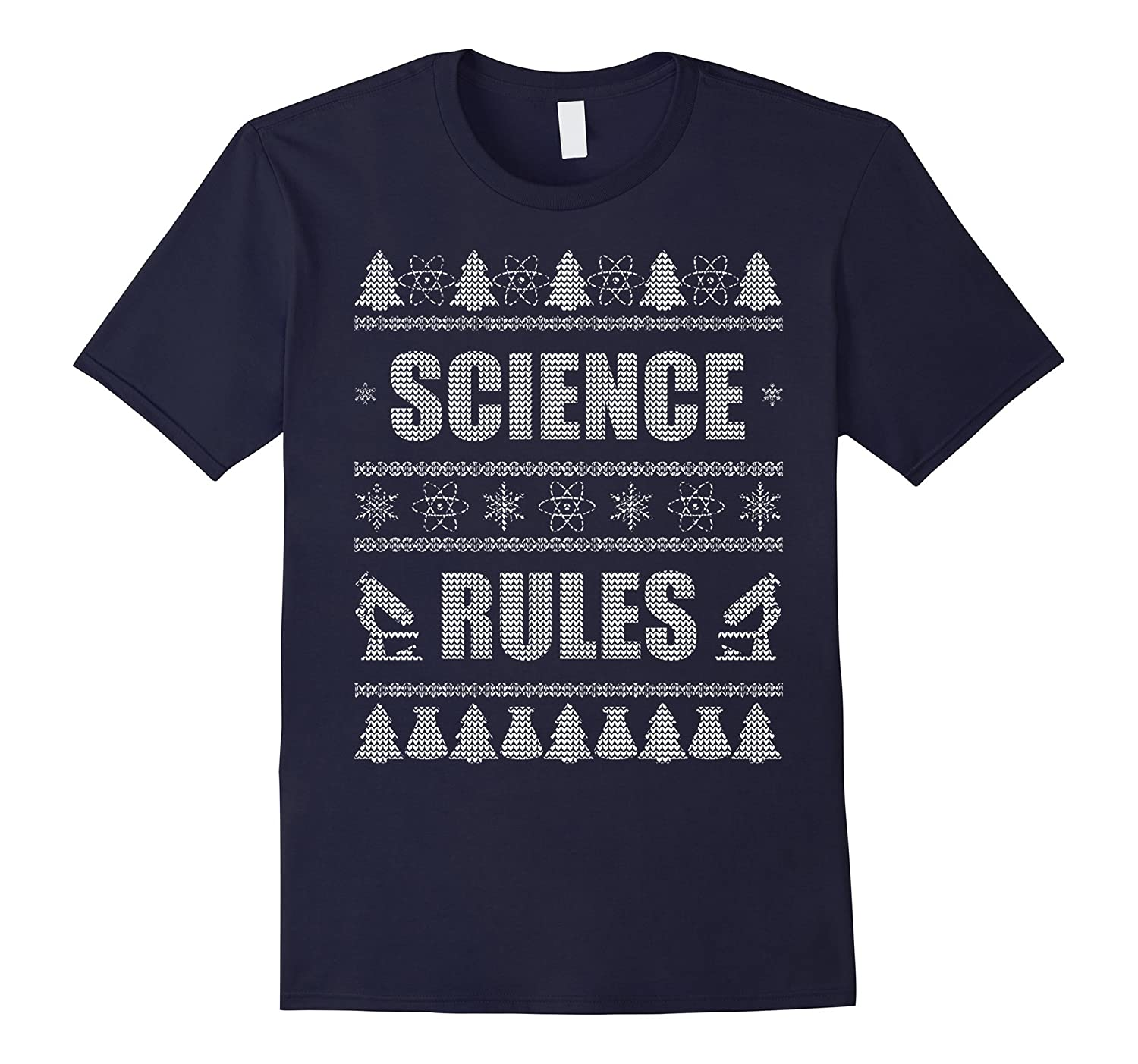 Ugly Christmas Sweater Science T-Shirt-T-Shirt