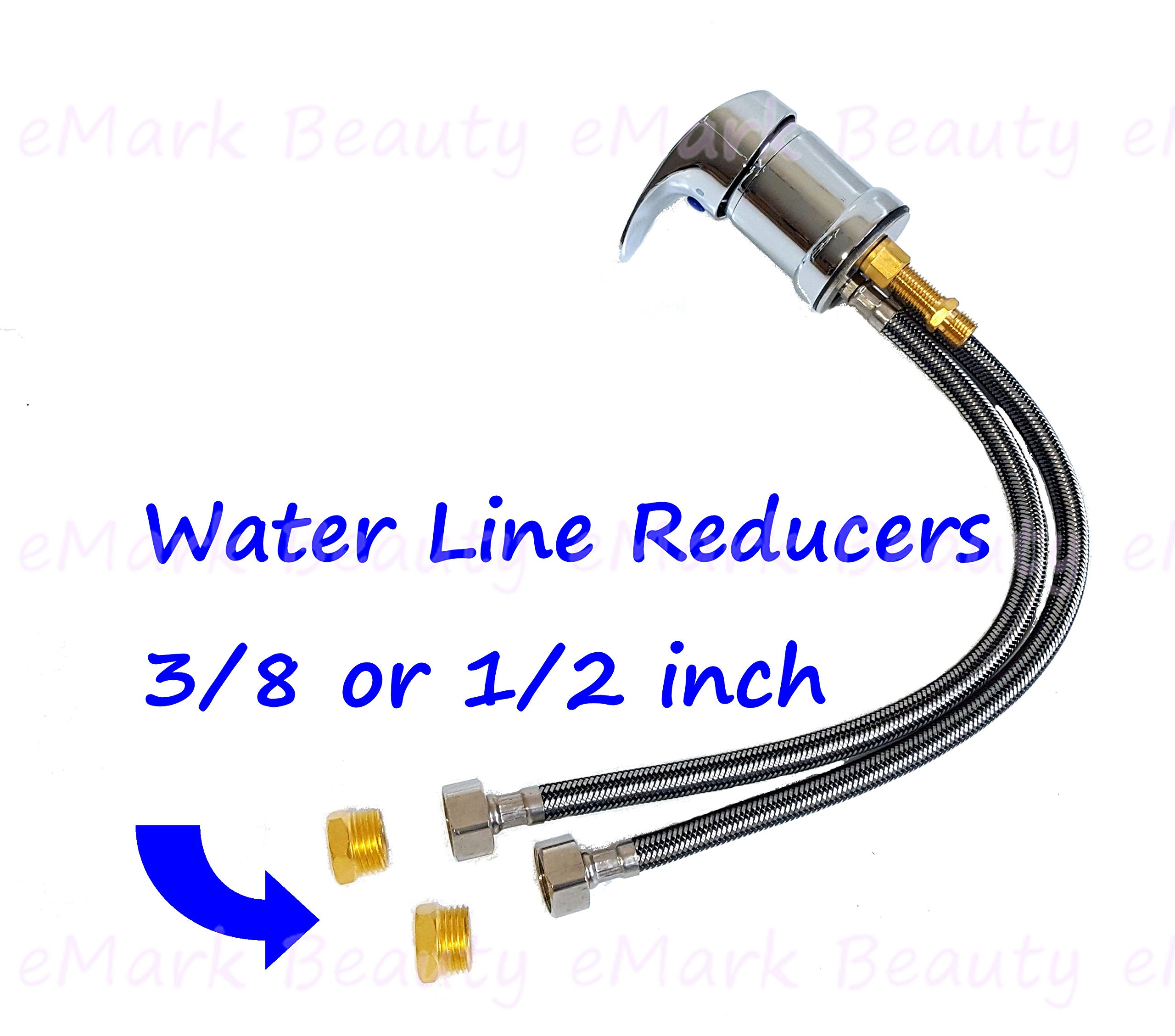 eMark Faucet and Spray Hose for Beauty Salon Shampoo Bowl Parts Kit with Reducers Included - 1164SH by eMark Beauty (Image #1)