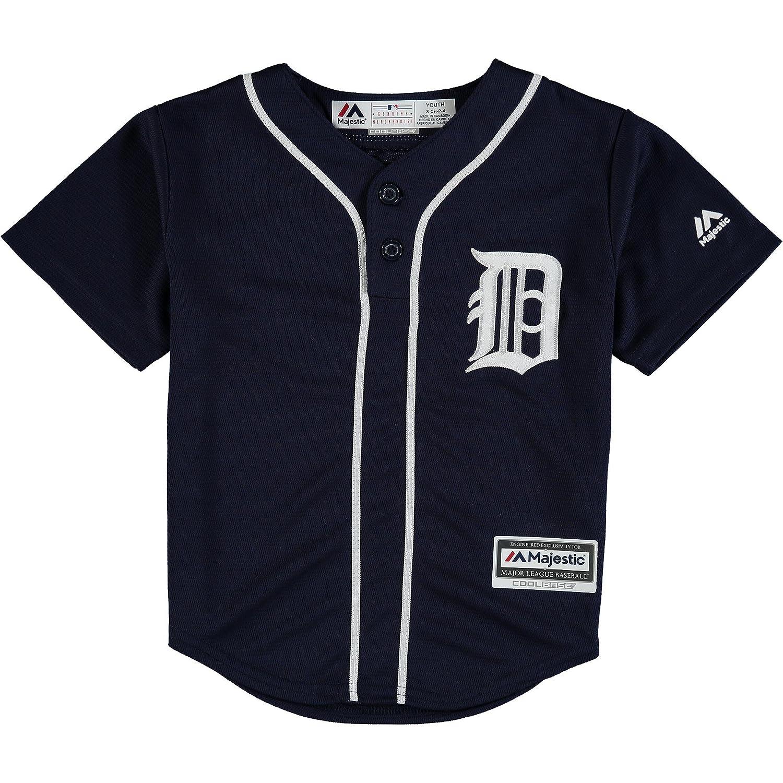 official photos d50e7 5d578 OuterStuff Detroit Tigers Blank Navy Blue Kids Cool Base ...